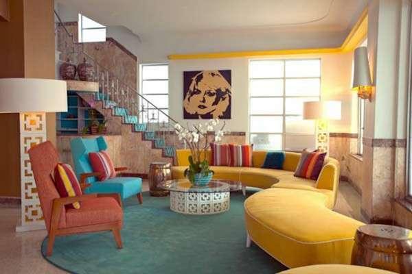 canlı renkli salon