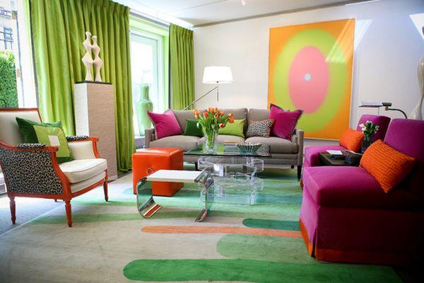 renkli salon dekoru